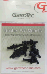 Anti-vibration rubber case fan mounts (10 Pack)
