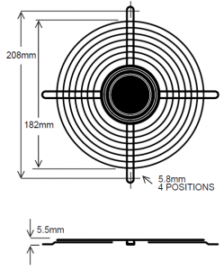208mm Wire Fan Guard ? SC100-W7 Euro
