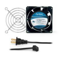 80mm Cabinet Cooling Fan Kit, Cord and Wire Guard - 120v CAB700
