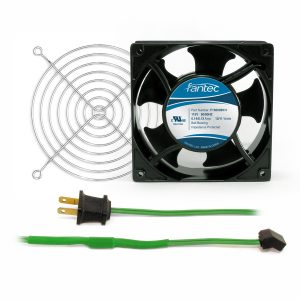 120mm Cabinet Cooling Fan Kit: Fan/Cord/Wire Guard - 120v GCAB702