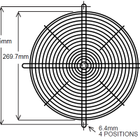 295mm Wire Fan Guard ? SC100-W11 Euro