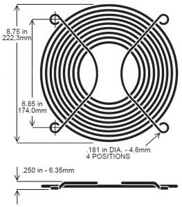 254mm Wire Fan Guard ? SC1000-W2