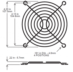 120mm Fan Guard, Wire - SC120-W13