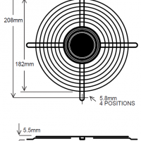 208mm Wire Fan Guard – SC100-W7 Euro