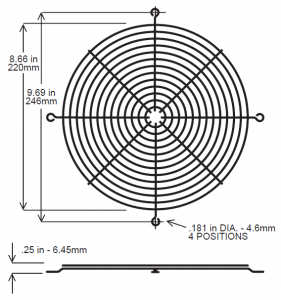254mm Fan Guard – SC1000-W3