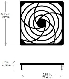 80mm Fan Guard, Plastic SC80-P30
