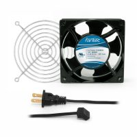 120mm Cabinet Cooling Fan Kit, Cord and Wire Guard - 120v CAB702