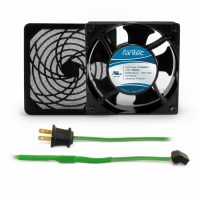 120mm Cabinet Cooling Fan Kit: Fan/Filter/Cord - 120v GCAB703