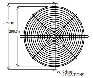 295mm Wire Fan Guard – SC100-W11 Euro