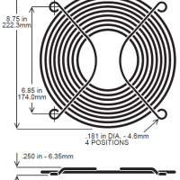 254mm Wire Fan Guard – SC1000-W2