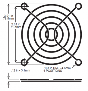 80mm Fan Guard, Wire - SC80-W6